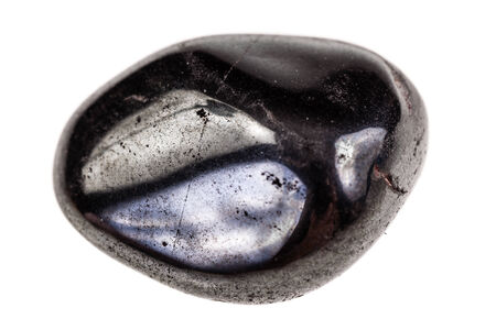 black onyx: a small decorative stone  isolated over a pure white background