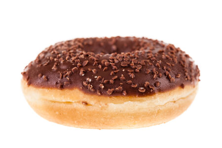 delicious tasty donuts isolated over a white background photo