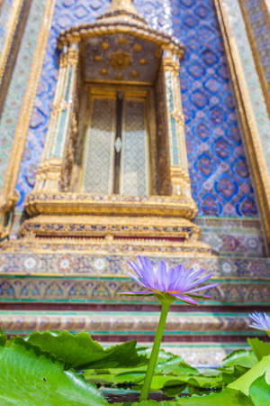 Details of Wat Phra Kaew, Temple of the Emerald Buddha, Bangkok, Thailand. photo