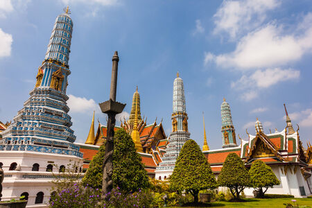 the grand palace: famous Prangs in the Grand Palace in Bangkok, Thailand