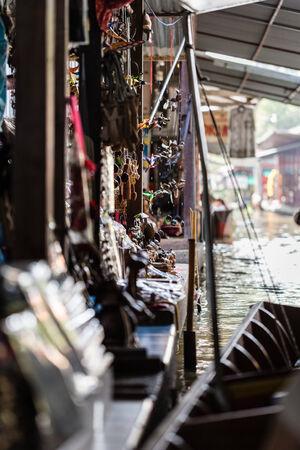 saduak: Traditional floating market in Damnoen Saduak near Bangkok, Thailand