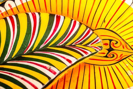 sri lankan: detail of an ancient and colorful sri lankan Raksha Mask