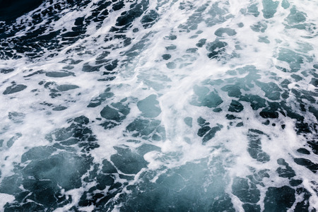 seething: detail of the turbulent deep ocean water surface