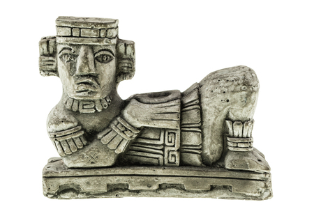 mesoamerica: Aztec Chac Mool reproduction isolated over a white background Stock Photo