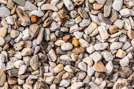 backgroung: backgroung of rock gravel pebbles of different size and shape