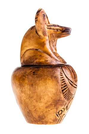 mummification: Canopic jars were used by the Ancient Egyptians during the mummification process to store and preserve the viscera of their owner for the afterlife Stock Photo