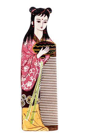 jiangsu: The Changzhou comb is a type of hand-painted comb produced in Changzhou, Jiangsu, China. Isolated