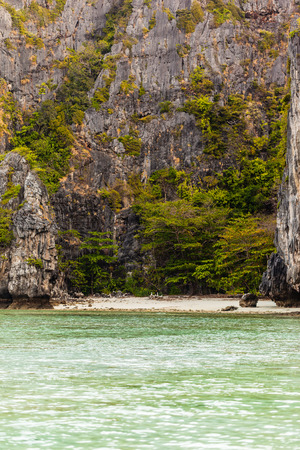 secluded: a beautiful an secluded cove in the exotic phi phi tropical island, Thailand Stock Photo