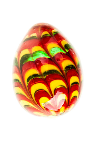 eastertime: a painted colorful easter egg isolated over a white background Stock Photo