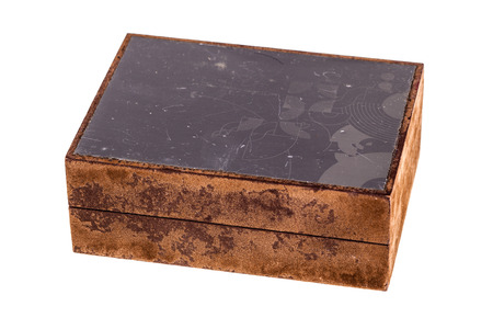 corkwood: a beautiful wooden casket or box isolated over a white background