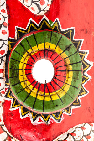 witchdoctor: detail of african tribal painted colorful wood