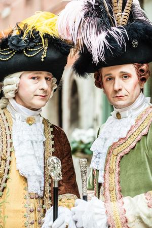 medievales: retrato de dos noblemans aristocr�ticas medievales en Venecia