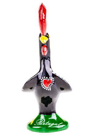 unofficial: The Galo de Barcelos, Barcelos Rooster, the unofficial symbol of Portugal for justice and freedom isolated over a white background