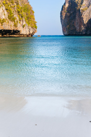 sheltered: Maya Bay is  sheltered by  high cliffs on three sides with several beaches with soft white sand and exotic fish in clear water