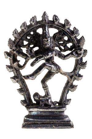 nataraja: Statue of indian hindu god dancing Shiva Nataraja. isolated on white background