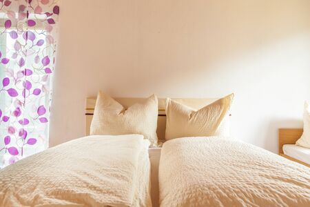 soft furnishing: a cozy bed and breakfast or hotel bedroom in Austria