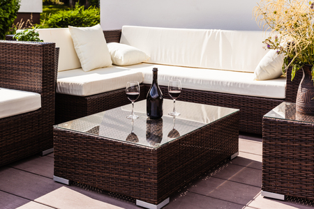 lounge: a luxurious lounge on the poolside of a beautiful big pool