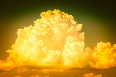 a big and fluffy cumulonimbus cloud in the blue sky Stock Photo
