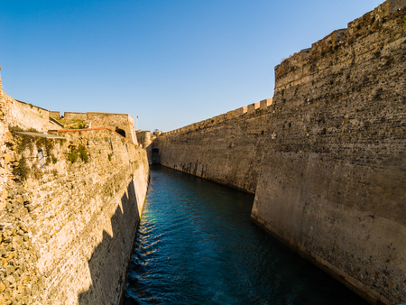 Castle Moat in Ceuta, the hispanic enclave in Africa Imagens