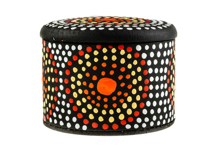 a dot art australian box isolated over a white background
