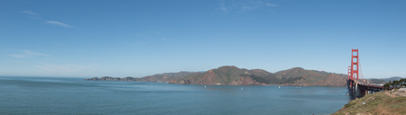 san francisco bay: View of the San Francisco Bay with a the Golden Gate Bridge in the Background