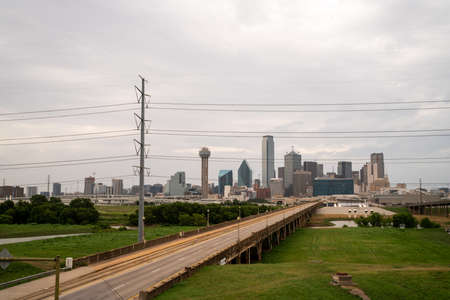 View of Empty Streets Leading to Downtown Dallas Texas