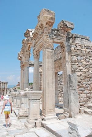 templo romano: Templo de Adriano, Éfeso, Turquía Foto de archivo