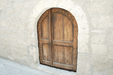 image of ancient doors photo