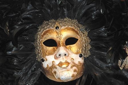 painted face mask: Carnival Venezian mask Stock Photo