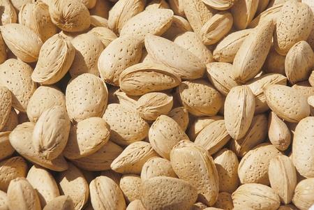 hard core: a lot of almonds Stock Photo
