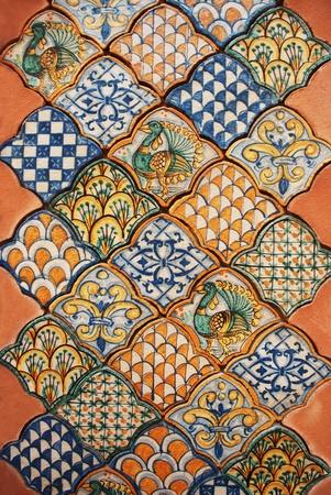 ceramica: fondo de cer�mica Foto de archivo