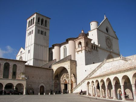 Assisi a little town from cental Italy Umbria photo