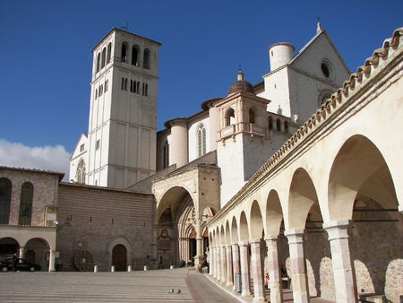 Assisi a little town from cental Italy Umbria The place where Saint francisco came to life Stock Photo - 3106486