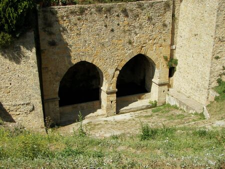 A fresh water spring in Volterra a old nice tuscany city from Italy photo