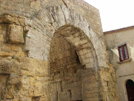 volterra: The old Volterra gate a nice Tuscany town from Italy