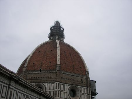 The Florence Dome aerial view Stock Photo