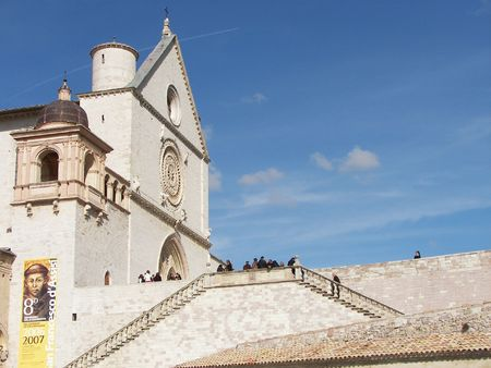 Assisi a little town from central Italy the San Francis Basilica Stock Photo - 3144007
