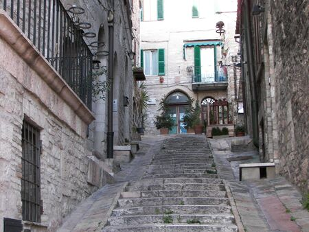 Assisi a medieval town from central Italy photo