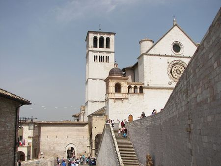 Assisi a little town from central Italy the San Francis Basilica Stock Photo - 3144003