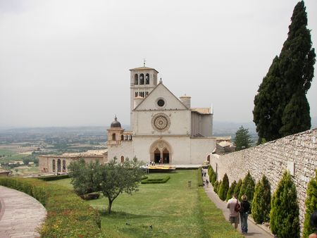 Assisi a little town from central Italy the San Francis Basilica Stock Photo - 3144005