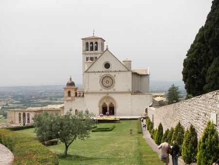 Assisi a little town from central Italy the San Francis Basilica photo