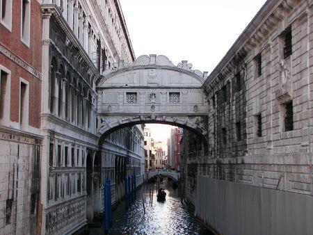 The sigh bridge in Venice