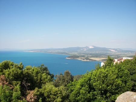 Landscape view from Populonia tower