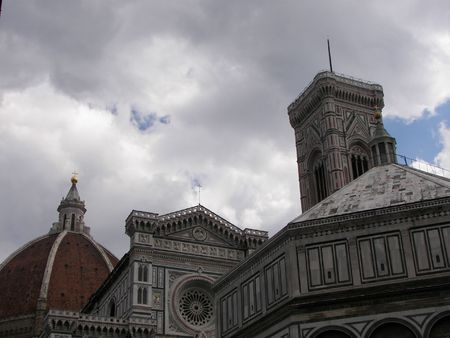 The cathedral, baptistery and the bell tower from Florence Italy Stock Photo - 3158312