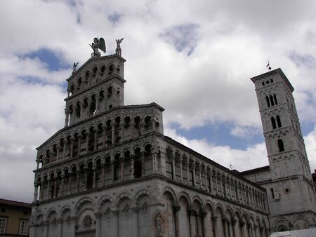 martino: The Lucca Cathedral, St. Martino Church from Tuscan Central italy