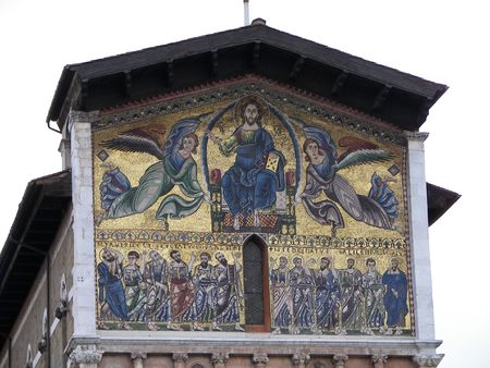 lucca: The San Frediano Church in Lucca, from Tuscany central Italy