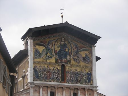 The San Frediano Church in Lucca, from Tuscany central Italy
