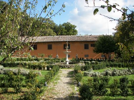 Public park in the North of Florence from central Italy photo
