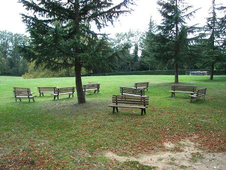 Public bench photo