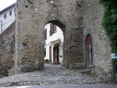 The old village of Artimino from Central Italy the medieval gate